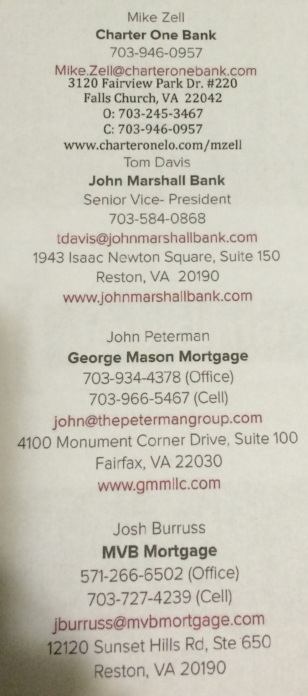 All Lenders Information